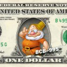 DOC 7 dwarfs Snow White on REAL Dollar Bill Disney Cash Money Memorabilia Mint