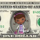 DOC MCSTUFFINS on REAL Dollar Bill Disney Cash Money Memorabilia Collectible
