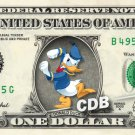 Angry DONALD DUCK on REAL Dollar Bill Disney Cash Money Memorabilia Collectible!