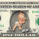 BABY HERMAN Who Framed Roger Rabbit on REAL Dollar Bill Disney Cash Money