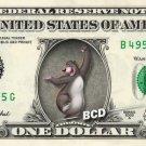 BALOO Jungle Book on REAL Dollar Bill Disney Cash Money Memorabilia Collectible