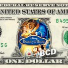 BEAUTY AND THE BEAST MOVIE on REAL Dollar Bill Disney Cash Money Memorabilia