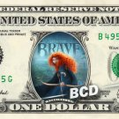 BRAVE the Movie on REAL Dollar Bill Disney Cash Money Memorabilia Collectible