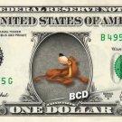 BRUNO - Cinderella on REAL Dollar Bill Disney Cash Money Memorabilia Collectible