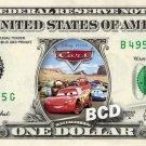 CARS the Movie on REAL Dollar Bill Disney Cash Money Memorabilia Collectible