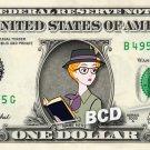 ANITA RADCLIFFE 101 Dalmatians on REAL Dollar Bill Disney Cash Money Memorabilia