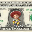 JESSIE Toy Story on REAL Dollar Bill Disney Cash Money Memorabilia Collectible