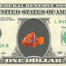 Nemo Finding Nemo on REAL Dollar Bill Disney Cash Money Memorabilia Collectible