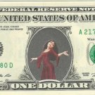 Mother Gothel - Tangled on REAL Dollar Bill Disney Cash Money Memorabilia