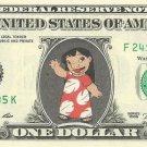 Lilo - Lilo & Stitch on REAL Dollar Bill Disney Cash Money Memorabilia