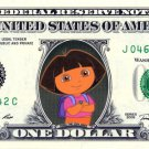 Dora the Explorer on REAL Dollar Bill Disney Cash Money Memorabilia Collectible