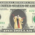 Cruella DeVille - 101 Dalmations on REAL Dollar Bill Disney Snow White Cash
