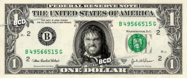 Adam Bomb on REAL Dollar Bill WWE Wrestler Cash Money Memorabilia Collectible