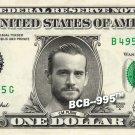 CM PUNK on REAL Dollar Bill WWE Wrestler Cash Money Memorabilia Celebrity Bank