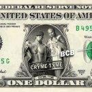 CRYME TYME on REAL Dollar Bill WWE Wrestler Cash Money Memorabilia Celebrity Bank