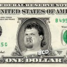ISAAC YANKEM on REAL Dollar Bill WWE Wrestler Cash Money Memorabilia Celebrity Bank