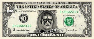 STARDUST on REAL Dollar Bill WWE Wrestler Cash Money Memorabilia Celebrity Bank