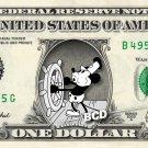 MICKEY MOUSE on REAL Dollar Bill Disney Cash Money Memorabilia Collectible #4
