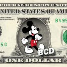 MICKEY MOUSE on REAL Dollar Bill Disney Cash Money Memorabilia Collectible #5
