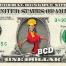 KUZCO Emperors New Groove on REAL Dollar Bill Disney Cash Money Memorabilia