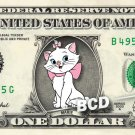 MARIE Aristocats on REAL Dollar Bill Disney Cash Money Memorabilia Collectible