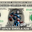 IRONMAN Patriot on REAL Dollar Bill Marvel Disney Cash Money Memorabilia