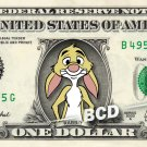 RABBIT Winnie Pooh on REAL Dollar Bill Disney Cash Money Memorabilia Collectible