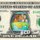 SCOOBY DOO Mystery Machine on REAL Dollar Bill Cash Money Memorabilia