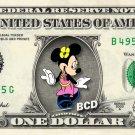 MINNIE MOUSE on REAL Dollar Bill Disney Cash Money Memorabilia Collectible #2