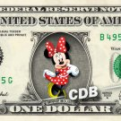 Minnie Mouse on REAL Dollar Bill Disney Cash Money Memorabilia Collectible #3