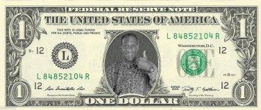 BILL COSBY on REAL Dollar Bill Cash Money Memorabilia Collectible Celebrity Bank