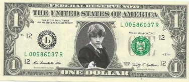 RON WEASLEY Rupert Grint Harry Potter on REAL Dollar Bill Cash Money Memorabilia