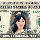 MULAN on REAL Dollar Bill Disney Cash Money Memorabilia Collectible Celebrity