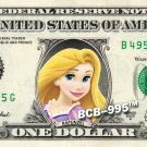 RAPUNZEL on REAL Dollar Bill Disney Cash Money Memorabilia Collectible Celebrity