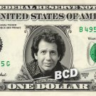 GARRY SHANDLING on REAL Dollar Bill Cash Money Memorabilia Collectible Celebrity