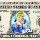 CINDERELLA on REAL Dollar Bill Disney Cash Money Memorabilia Collectible Bank
