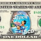 LILO & STITCH Movie - REAL Dollar Bill Disney Cash Money Memorabilia Collectible