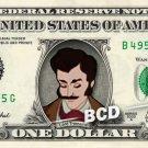 LORD TREMAINE Cinderella Father - REAL Dollar Bill Disney Cash Money Memorabilia