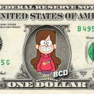 Mabel Pines - Gravity Falls on a REAL Dollar Disney Bill Cash Money Collectible