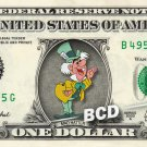 MAD HATTER Alice Wonderland - REAL Dollar Bill Disney Cash Money Memorabilia