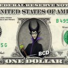 MALEFICENT REAL Dollar Bill Disney Cash Money Memorabilia Collectible Celebrity