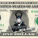 MALEFICENT Angelina Jolie - REAL Dollar Bill Disney Cash Money Memorabilia