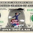 MARRY POPPINS - REAL Dollar Bill Disney Cash Money Memorabilia Collectible