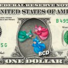 FLORA FAUNA MERRYWEATHER - Sleeping Beauty - REAL Dollar Bill Disney Cash Money