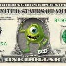 MIKE WAZOWSKI - Monsters Inc - REAL Dollar Bill Disney Cash Money Memorabilia