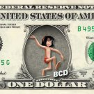 MOWGLI Jungle Book - REAL Dollar Bill Disney Cash Money Memorabilia Collectible