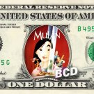MULAN Movie REAL Dollar Bill Disney Cash Money Memorabilia Collectible Celebrity