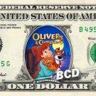OLIVER & COMPANY Movie REAL Dollar Bill Disney Cash Money Memorabilia Bank