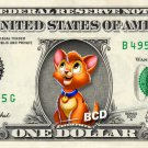 OLIVER CAT & Company REAL Dollar Bill Disney Cash Money Memorabilia Collectible