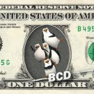 PENGUINS OF MADAGASCAR - REAL Dollar Bill Disney Cash Money Memorabilia